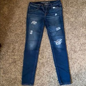 American Eagle Distressed Jeggings Size 8